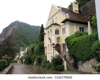 "Wachau Austria - May 25, 2018:The Wachau was inscribed as ""Wachau Cultural Landscape"" in the UNESCO List of World Heritage Sites."