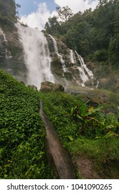 Wachirathan waterfall in Doi Inthanon National Park, Thailand.