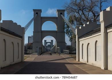 Waco Suspension Bridge in Waco Texas