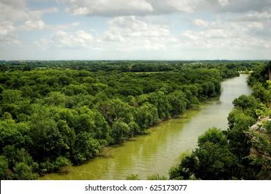 Waco Texas, Brazos River from Cameron Park