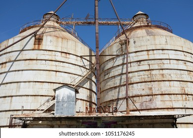 WACO, TEXAS - MARCH 19, 2018: The Silos at Magnolia Market. The shop is owned by Chip and Joanna Ggaines stars of HGTVs Fixer Upper.