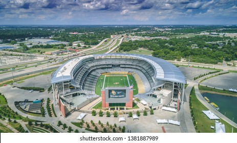 Waco, Texas, United States - 3 September 2018: McLane Stadium, home of the Baylor Bears football team, in September, 2018 in Waco, Texas