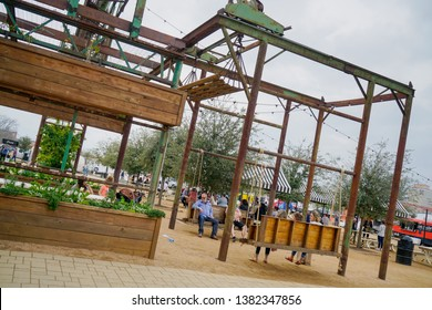 WACO, Texas / United States - April 1, 2019, Exterior of Magnolia Market owned by Chip and Joanna Gaines from the HGTV show Fixer Upper