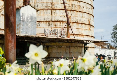 WACO, Texas / United States - April 1, 2019, Magnolia Market owned by Chip and Joanna Gaines from the HGTV show Fixer Upper