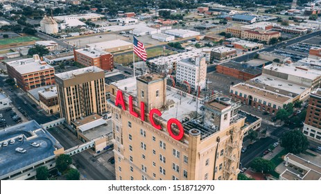 Waco, Texas, United States - September 29, 2019: The Iconic Alico Building represents the most historic figure of the Waco, Texas skyline.