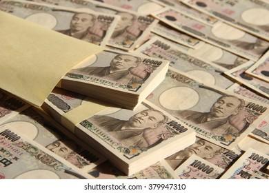 Wad of money and Ten thousand yen bill