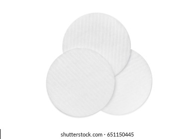 Wadded pads photo on white background isolation