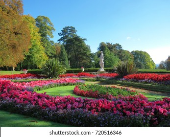 Waddesdon Manor House and gardens in Buckinghamshire. The house and gardens are open to the public in spring and summer. England, September 2017