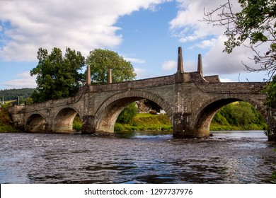 Wade's Bridge in river Tay in aberfeldy Scotland