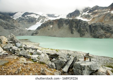 Wadgemont Lake at the elevation of 1160 meters in Garibaldi Provincial Park, BC, Canada