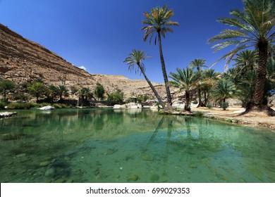 Wadi Bani Khalid, an oasis in Oman