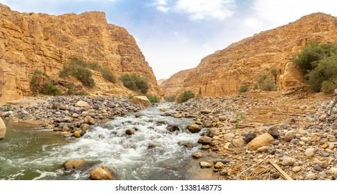 Wadi Mujib canyon. Wadi al Mujib reserve, Jordan.