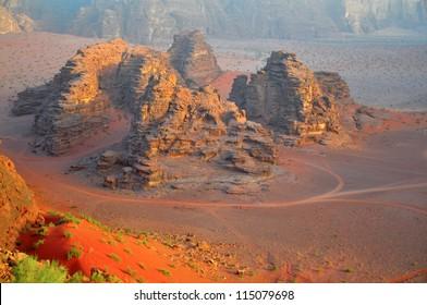 Wadi Rum desert landscape,Jordan