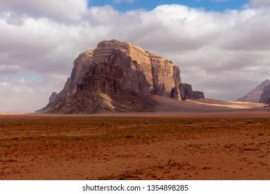 Wadi Rum, Jordanian desert landscape.