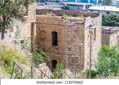 Wadi Salib is the area of the lower Haifa (Israel). Ruins of the Ottoman period and the British Mandate. The building with window openings.