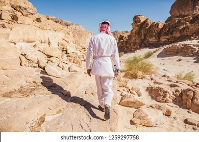Wadi Watir, Sinai / Egypt - May 25 2018 : The Colored Canyon, one  of the most magnificent rock formations / geological phenomenons. It exists in wild Sinai desert  with its Bedouins and wild life