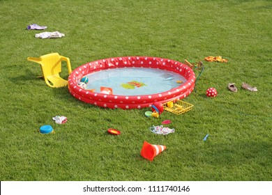 wading pool in the garden