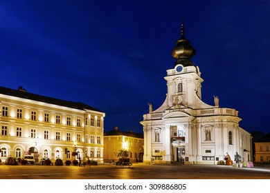 WADOWICE ,POLAND - AUGUST 25, 2015: Basilica in Wadowice, Poland.