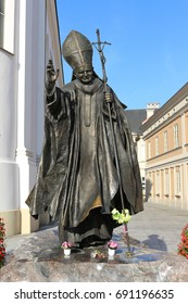 WADOWICE, POLAND - JUL. 21, 2016: Statue of the Pope John Paul I