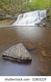 Wadsworth Falls during Springtime HDRI Image Vertical