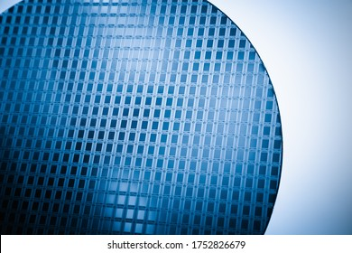 Wafer of integrated circuit, silicon material chip