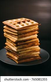 Wafers dessert square shape homemade