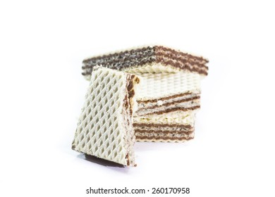 wafers isolated on a white background with a white