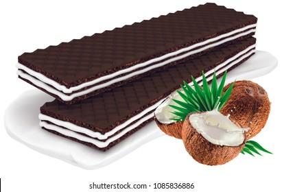 wafers vith cocos cream