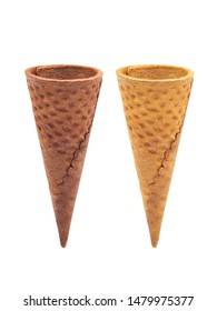 Waffle Cone  on white background