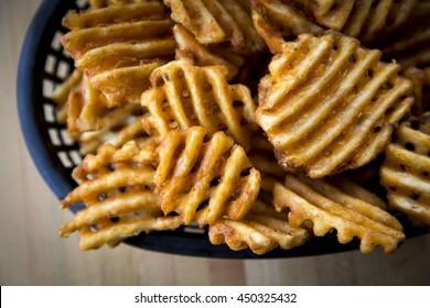 Waffle Cut French Fry Potato Chips