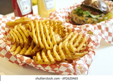 Waffle Fries in basket