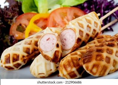 waffle stick,waffle sticks sell in Thai market,