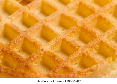 Waffle - This is a shot of a bare waffle. Shot with a shallow depth of field.