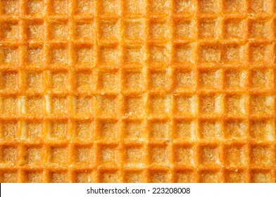Waffles background cell texture closeup