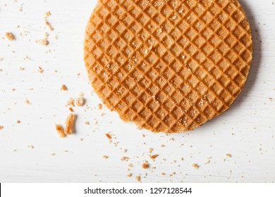 Waffles biscuit close up