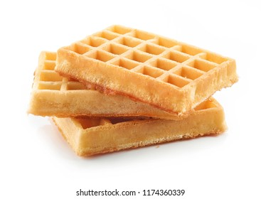 waffles isolated on a white background