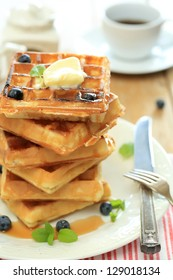 waffles in the morning
