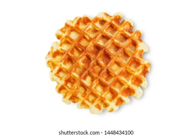 Waffles on a white isolated background. toning. selective focus