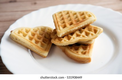 waffles for Valentine's Day