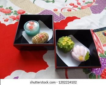 wagashi season food autumn Japanese confectionery Tradition
