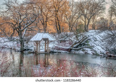 Wagner Cove in Central park on lake
