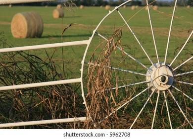 Wagon Wheel Fence