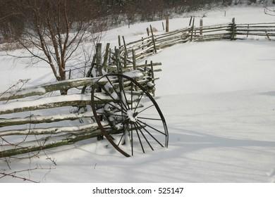 Wagon Wheel in Snow II
