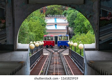 Wagons of Vladivostok Funicular.