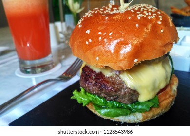 Wagyu Beef Burger with cheese