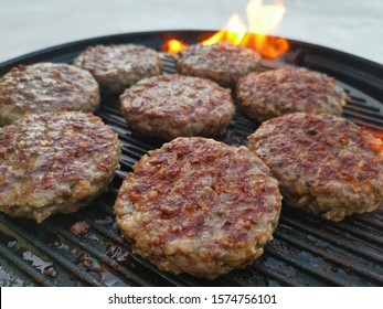 Wagyu beef burgers on the bbq