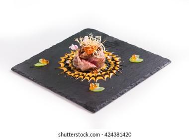 Wagyu beef sushi - japanese food style