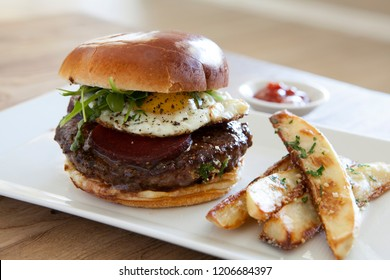 Wagyu Burger with Fried Egg