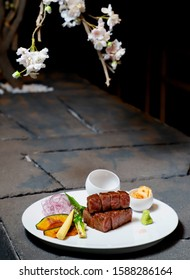 wagyu dishes after teppanyaki style cooking