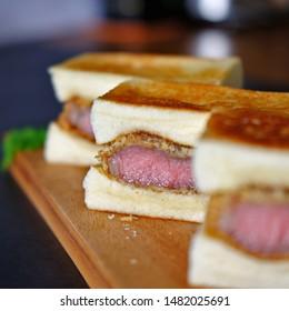 Wagyu katsu sando beef sandwich